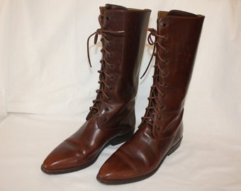 All Leather Riding Boots size 9M. Made in Brazil.