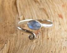 Toe Ring, Moonstone Toe Ring, Rainbow Moonstone, Foot Accessories, Foot Ring, Stone Toe Ring, Band Toe , Foot Jewelry