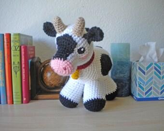 Crochet Cow Stuffed Animal