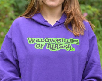 Willowbillies Of Alaska Hoodie (words only)