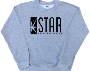 STAR LABS Jumper - Barry Alan The Flash Inspired Fan Pullover - Various Colours Available Unisex Sweatshirt
