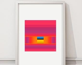 Escape 81 - Art print limited edition - 28 cm x 28 cm - frame - photographic Composition - Interior Decoration