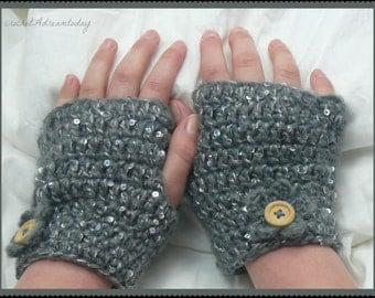 crochet short gloves