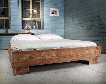 Bed from reclaimed wood ANSOUIS