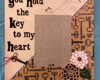 "Premade ""Key to my Heart"" scrapbook page"