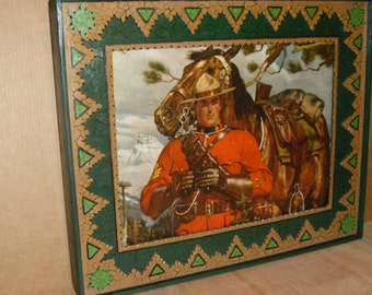 Arnold Friberg 1960 Royal Canadian Mounted Police (RCMP) only one of it's kind today and wood custom frame by TR.
