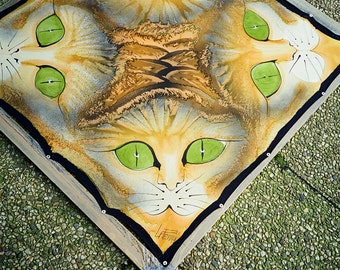 Cats unique silk shawl