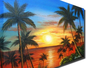 Coconut tree painting