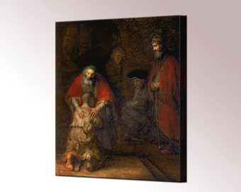 Return of the Prodigal Son Rembrandt Canvas Wall Art Print Picture Framed Ready To Hang home decor