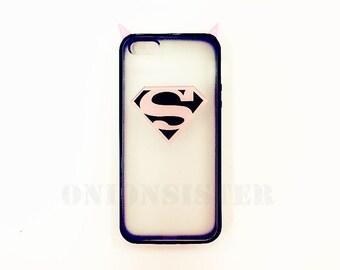 Cute Pink Superman iPhone Case TPU Pink Rivets Cool iPhone SE Case 5 Girly iPhone Case 5s Brigh Pink iPhone Case 6 iPhone Cover 6 Plus Case