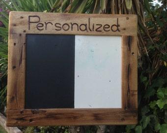 Framed Chalkboard,Wedding Gift,Reclaimed Wood Frame,Rustic Modern Decor,Kitchen,Playroom,Livingroom