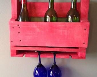 Reclaimed Pallet Wood Wine Rack