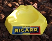 Vintage triangular ashtray RICARD OPALEX
