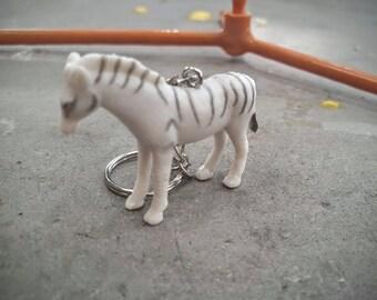 Free Shipping Zebra Keychain  Great Stocking Stuffer Gift 5 and under