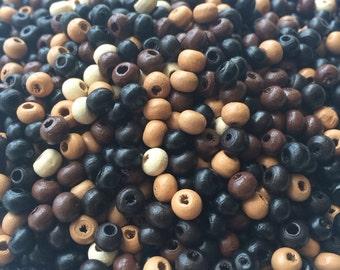 Tiny wood bead mix