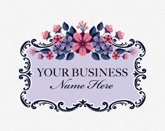 Flower Logo | Flowers Logo | Floral Logo | Floral Logo Design | Purple Flowers Logo | Logo Design | Premade Logo | Graphic Design Logo