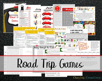 Road Trip Games / Car Games / Travel Games - Instant Download