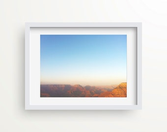Grand Canyon Wall Art, Original Photography, Abstract Artwork, Wall Print, Modern Art Print, Inspirational Quote Art