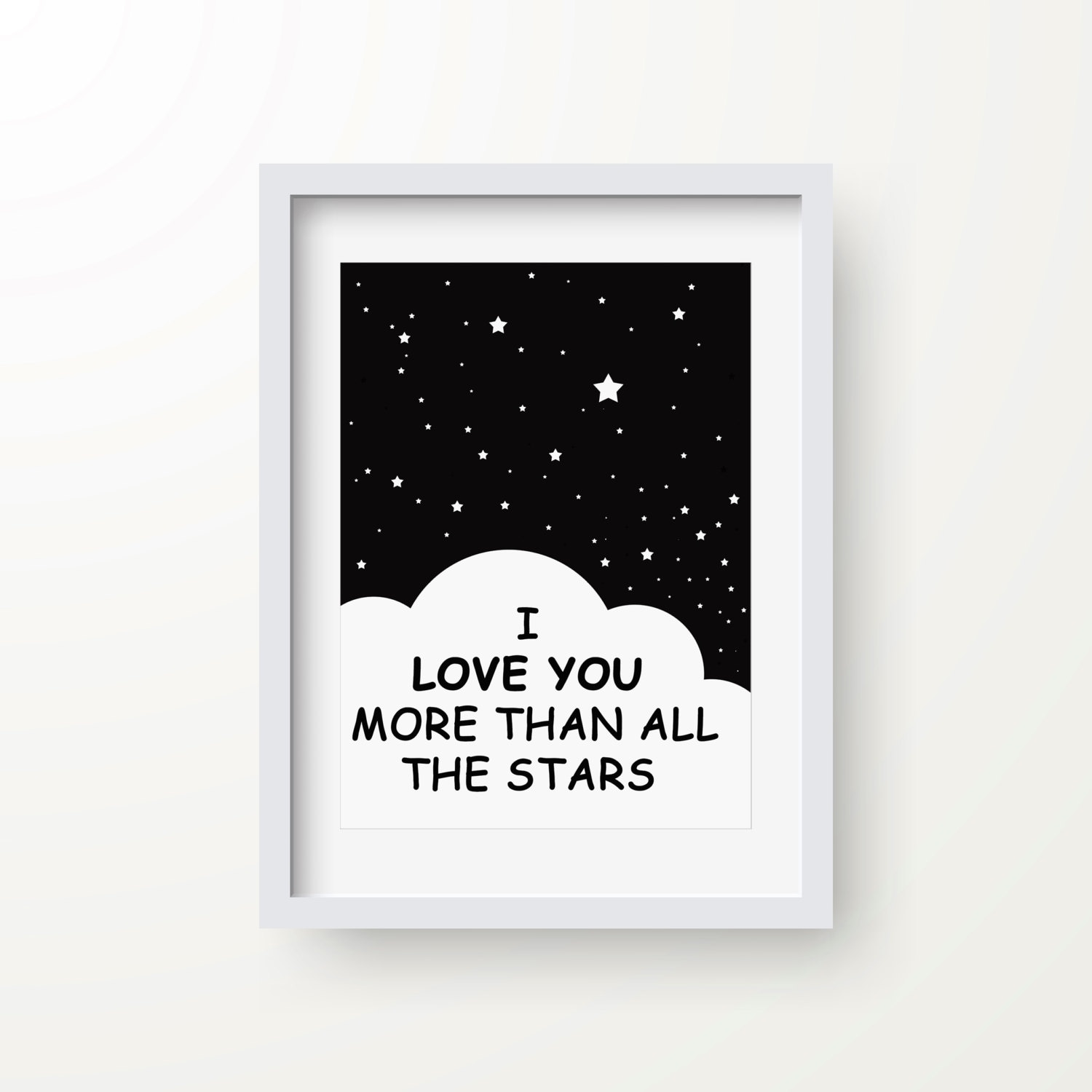 I Love You More Than Quotes: I Love You More Than All The Stars Print Inspirational Quote