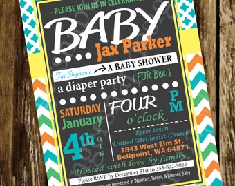 Word Art Baby Invitation Boy or Girl