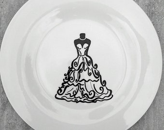 Bridal Shower Guest Book Signature Plate