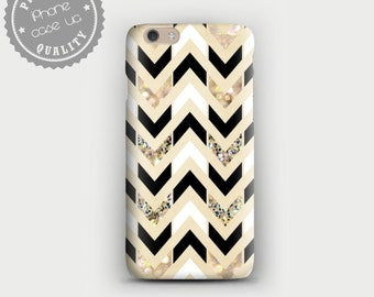 Chevron case, iPhone 6 Plus Case, iPhone 6 Case, iPhone 5C Case, iPhone 5s Case, iPhone 4s Case, Geometric iPhone Case, Gold Chevron iPhone