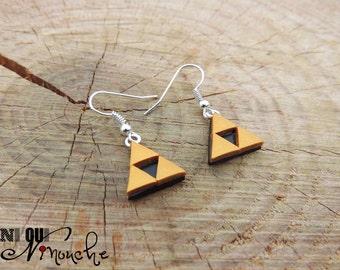 Triforce Zelda (fimo) geek earrings