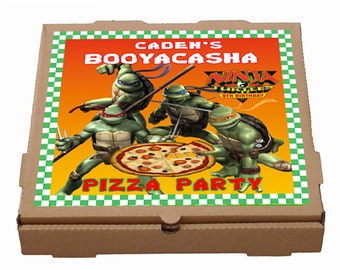 Personalized Teenage Mutant Ninja Turtles PRINTABLE Pizza Label Party Favor