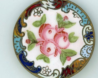Beautiful Large Enamel Button