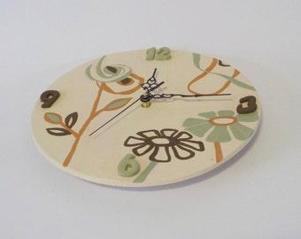 Hand made clock in ceramic