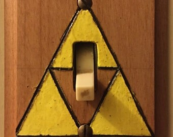 Triforce Light Switch Plate