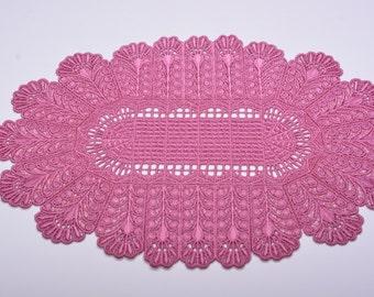 Machine Embroidered Rectangular Doily