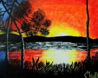 Sunset in Acrylic