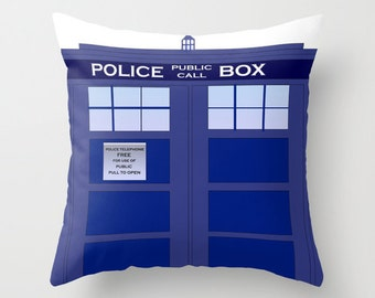 Tardis Pillow  / Doctor Who Pillow / Tardis Bedroom
