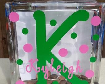 Custom name piggy bank, girl piggy bank, boy piggy bank, kid room decor, nursery decor, kids gift, child gift, money bank, monogram baby,