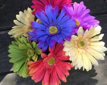 Handcrafted Flower Pen Bouquet Various Colors You Choose Quantity Blue Or Black Ink