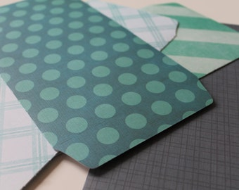 Handmade Textured Envelopes [Green Tones Set 2]