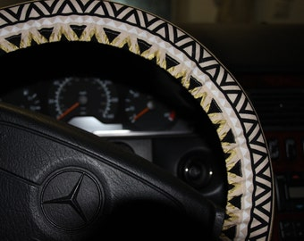 Tribal Steering Wheel Cover . Aztec wheel Cover . Car Accessories- Mothers day gift - Popular wheel cover .