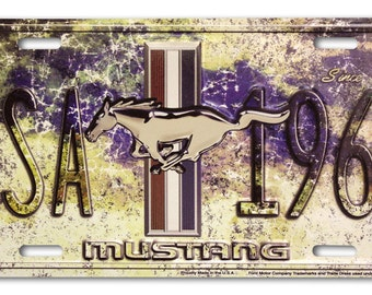 USA Ford Mustang Since 1964 Embossed Metal License Plate 50153