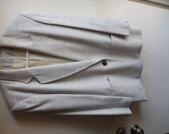 Beige Silk look Blazer