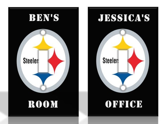 personalized pittsburgh steelers light switch by