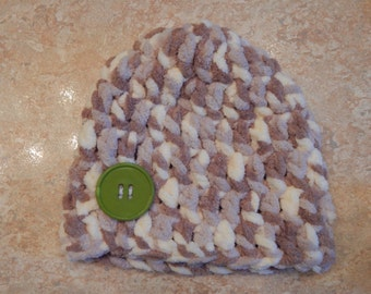 Chunky Newborn Beanie with Button