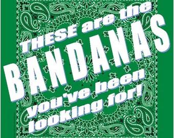 BANDANA - Bandanna. Premium Paisley Hav-A-Hank Bandana. Kelly GREEN. Made in the USA.
