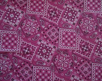 Bandana cotton fabric by the 1/4 or 1/2 yard you choose color