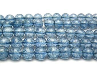 Kyanite Beads, Blue Kyanite Gemstone Beads Strand, 6mm 8mm 10mm Round Popcorn Kyanite Stone Beads for Jewelry Making (B114)
