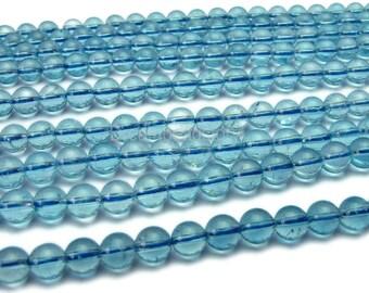 AAAA Quality Natural Topaz Beads, Genuine Sky Blue Topaz Beads, Swiss Blue Topaz, 3-4 4-5 5-6 6-7mm London Blue Topaz Gemstone Beads
