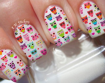 Cute Owls Nail Decals
