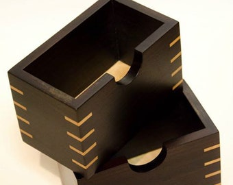hand crafted ebony with maple boxes,