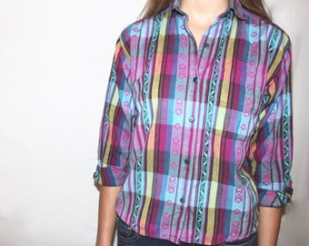 Aztec Plaid Button Down