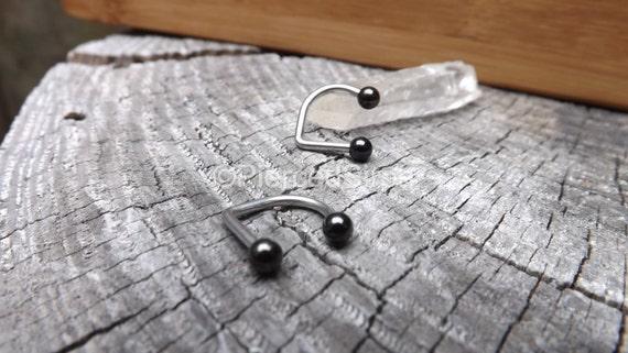 lippy loop labret l vre anneau en acier inoxydable noir boule. Black Bedroom Furniture Sets. Home Design Ideas